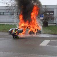Tesla не единственные авто, которые могут загореться