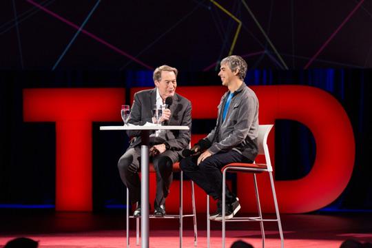 Ларри Пейдж на конференции TED 2014