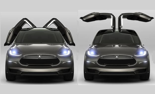 2 электромобиля Tesla Model X