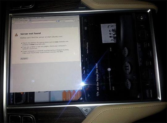 Ubuntu в комптьютере Tesla Model S