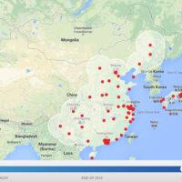 Новая карта станций Tesla Supercharger в Азии